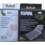 Fluval Edge 23L Foam Biomax & Carbon Set