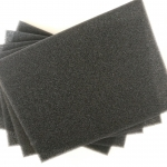 Aqua One Black Self Cut Foam Sponge (Pack of 5)